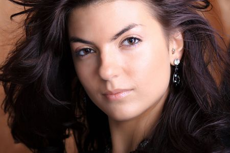 Young beautiful brunette Caucasian girl.   Stock Photo - 5633272