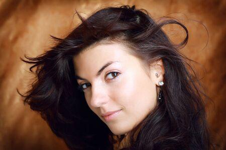 Young beautiful brunette Caucasian girl. Stock Photo - 5633357