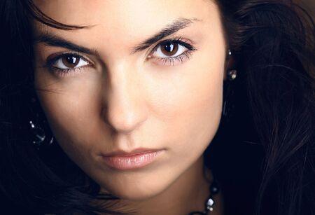 Young beautiful brunette Caucasian girl.   Stock Photo - 5633424