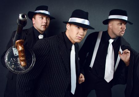 Three gangsters. Gangster gang Photo. Stock Photo - 5776285