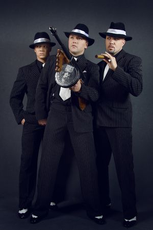 gangs: Three gangsters.  Stock Photo