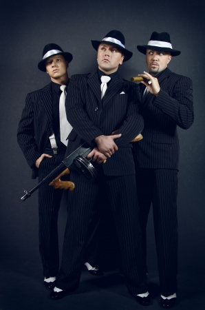 gangster background: Three gangsters. Gangster gang