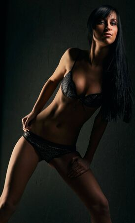 Young sexy girl in lingerie photo