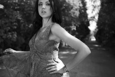 Portrait of beautiful girl outdoor. photo