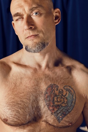 Portrait of one-eyed circus athlete Stock Photo - 7548795