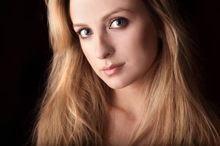 Portrait of attractive young blond woman. photo