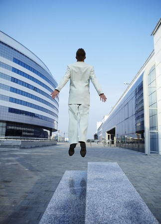 Freedom - Business man - arms outstretched Stock Photo - 7874929