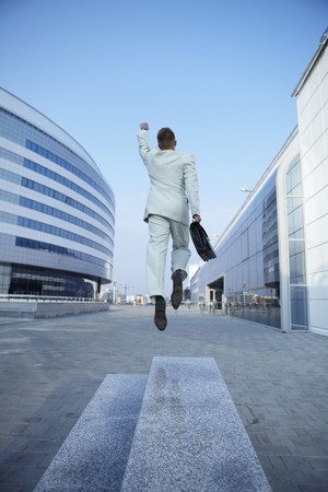 Freedom - Business man - arms outstretched Stock Photo - 7875067