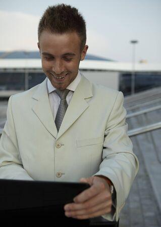 Businessman portrait with laptop Stock Photo - 7874742