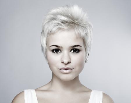 Portrait of an attractive teenage girl photo