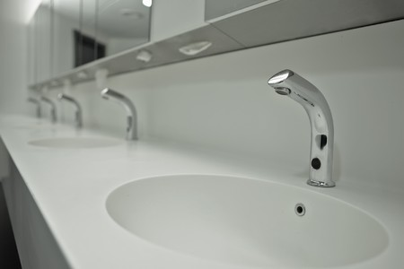 die frischen öffentliche WC