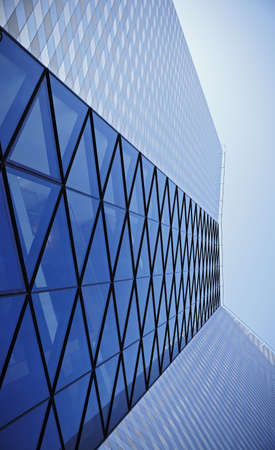 particularly: Modern architectural structure in business style