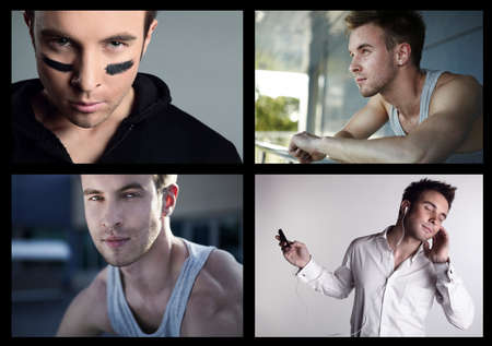 Adult Lovely man. Collage of portrait. photo