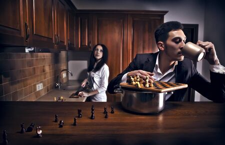 Chessplayer. Conceptual photo. Stock Photo - 8596645
