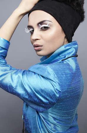 Beauty brunette vogue style photo