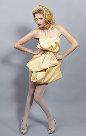 slavic: Beauty blond modern slavic style.
