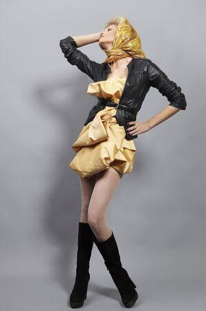 Beauty blond modern slavic style. Stock Photo - 8942234