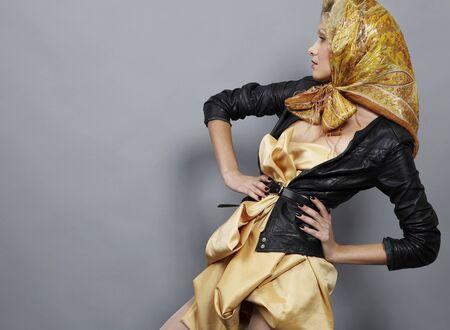 Beauty blond modern slavic style. Stock Photo - 8942312