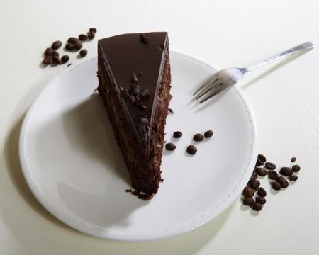 Piece of chocolate cake photo