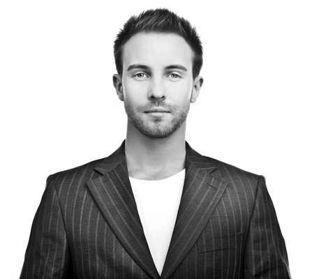 administrador de empresas: Retrato de un joven hombre de negocios exitoso Foto de archivo