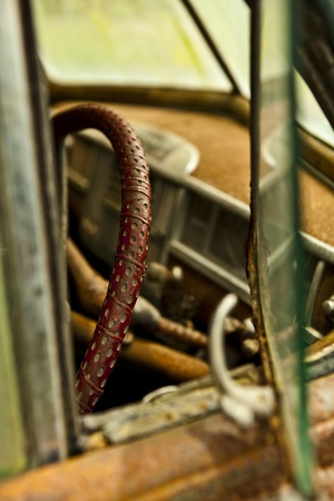 Grunge and hight rusty elements of old luxury car  Photo Stock Photo - 13065722
