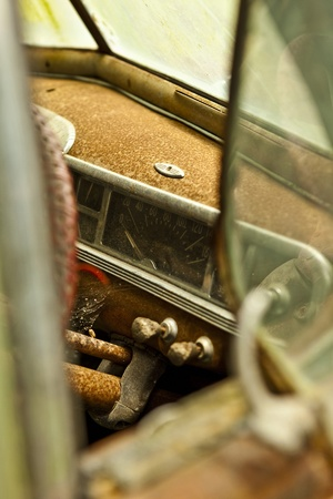 Grunge and hight rusty elements of old luxury car  Photo Stock Photo - 13065761