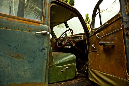 Grunge and hight rusty elements of old luxury car  Photo   Stock Photo - 13065796