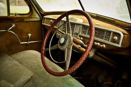 Grunge and hight rusty elements of old luxury car  Photo   Stock Photo - 13065778