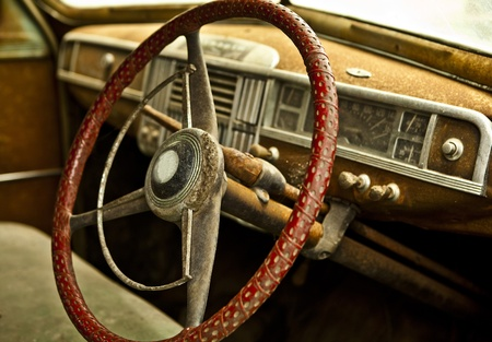 Grunge and hight rusty elements of old luxury car  Photo Stock Photo - 13065762
