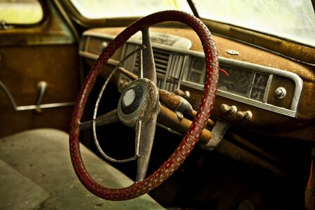 Grunge and hight rusty elements of old luxury car  Photo   Stock Photo - 13065754