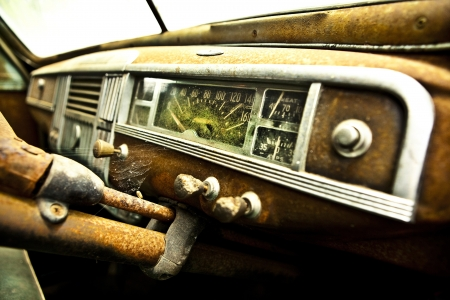 Grunge and hight rusty elements of old luxury car  Photo Stock Photo - 13065783