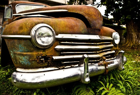 Grunge and hight rusty elements of old luxury car  Photo   Stock Photo - 13065883