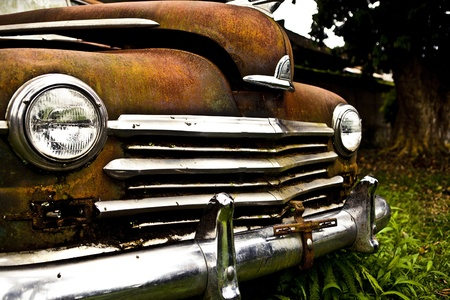 Grunge and hight rusty elements of old luxury car  Photo   Stock Photo - 13065844
