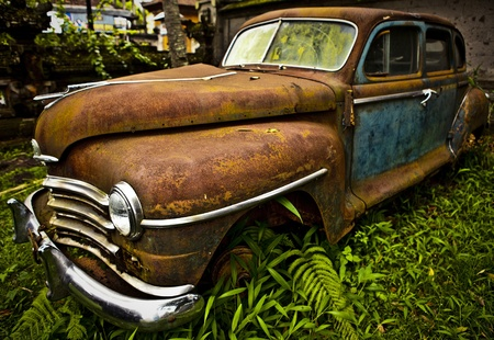 Grunge and hight rusty elements of old luxury car  Photo Stock Photo - 13065864