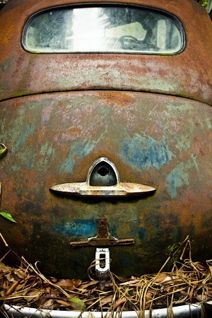 Grunge and hight rusty elements of old luxury car  Photo   photo