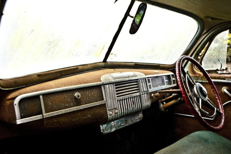 Grunge and hight rusty elements of old luxury car  Photo   Stock Photo - 13065775