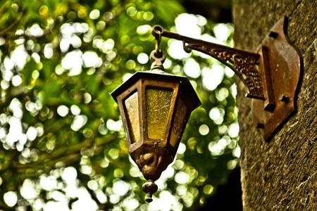 An old little street lamp in a garden Stock Photo - 13330323