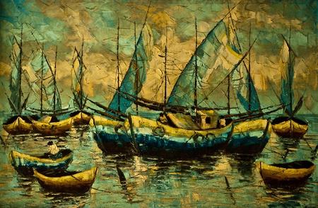 Olieverf op doek Art foto