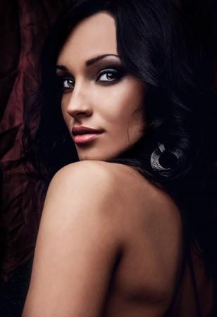 Portrait d'une jeune beauté Close-up Photo