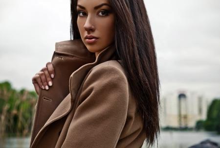 Retrato de una bella modelo