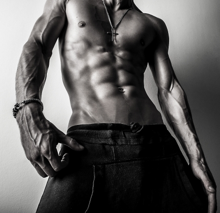 Beauty men torso  Naked body Stock Photo - 15577787
