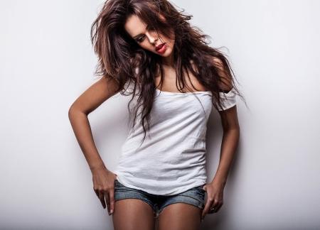 sensuality: Beautiful woman  Studio photo