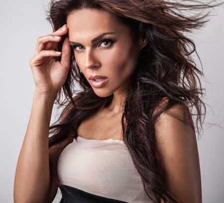 Amazing studio portrait of beautiful woman Stock Photo - 15577448