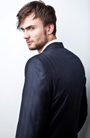 Elegant young handsome man  Studio fashion portrait Stock Photo - 15575544