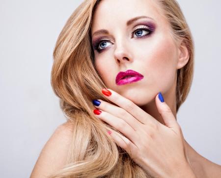 mooie vrouwen: Natuurlijke gezondheid schoonheid van een vrouw gezicht