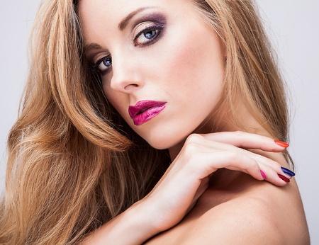 eye make up: Natural health beauty of a woman face