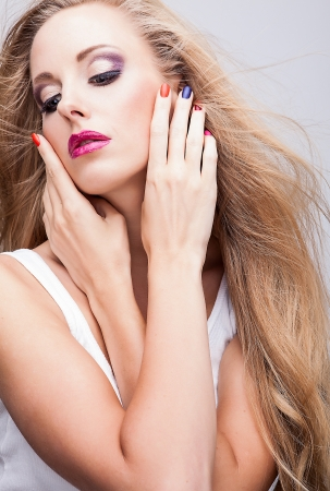 natural health and beauty: Belleza natural de la salud de una cara de mujer