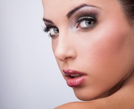 Santé beauté naturelle d'un visage de femme Banque d'images