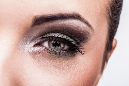 Woman eye with beautiful makeup  photo