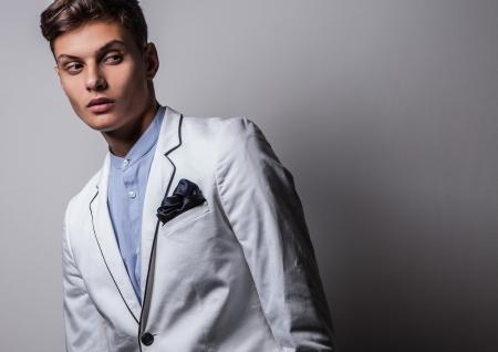 Elegant young handsome man  Studio fashion portrait Stock Photo - 15575780